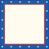 Cartel de los E.E.U.U., bandera y diseño de la plantilla Fotos de archivo