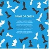 Cartel de los pedazos de ajedrez con el espacio para el texto Imagen de archivo
