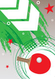 Cartel de los tenis de mesa Imágenes de archivo libres de regalías