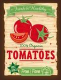 Cartel de los tomates del diseño del vintage Imagen de archivo libre de regalías
