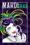 Cartel de Mardi Gras Fotografía de archivo libre de regalías