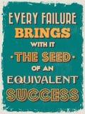 Cartel de motivación de la cita del vintage retro Ilustración del vector Imagen de archivo libre de regalías