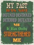 Cartel de motivación de la cita del vintage retro Ilustración del vector Fotos de archivo libres de regalías