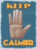 Cartel de motivación de la cita del vintage retro Ilustración del vector Foto de archivo
