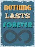 Cartel de motivación de la cita del vintage retro Vector IL Imagen de archivo