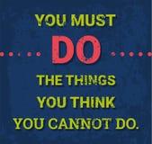 Cartel de motivación del vector Foto de archivo libre de regalías