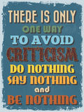 Cartel de motivación de la cita del vintage retro Ilustración del vector Imagenes de archivo