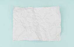 Cartel de papel arrugado del aviador, maqueta del folleto, A4, Nosotros-letra, encendido Imagen de archivo