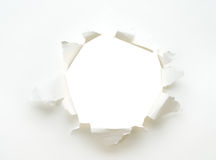 Cartel de papel vacío blanco del agujero Fotos de archivo libres de regalías