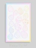 Cartel de Pascua del vector Imágenes de archivo libres de regalías