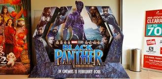 Cartel de película de la pantera negra Imagenes de archivo