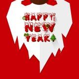 Cartel de Santa Beard y de la Feliz Año Nuevo Imagen de archivo