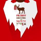 Cartel de Santa Beard y de la Feliz Año Nuevo Imágenes de archivo libres de regalías