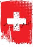 Cartel de Suiza Imágenes de archivo libres de regalías