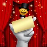 Cartel de Theatere Fotografía de archivo libre de regalías