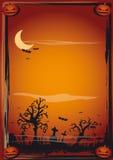 Cartel de Víspera de Todos los Santos Foto de archivo libre de regalías