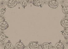 Cartel de Víspera de Todos los Santos Vector el ejemplo del fondo de Halloween con las calabazas y el web Imagenes de archivo