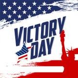 Cartel de Victory Day stock de ilustración