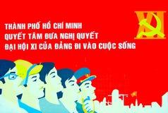 Cartel de Vietnam fotografía de archivo libre de regalías