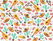 Cartel de Viva México ilustración del vector