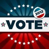 Cartel de votación patriótico ilustración del vector