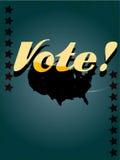 Cartel de votación retro Imagenes de archivo