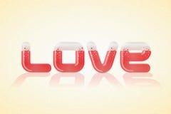 Cartel del amor sobre fondo agradable Imagen de archivo libre de regalías