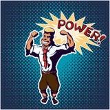 Cartel del arte pop del hombre fuerte Imagen de archivo libre de regalías