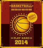 Cartel del baloncesto. Fotografía de archivo libre de regalías