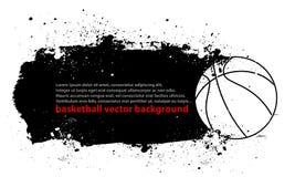 Cartel del baloncesto de Grunge Fotografía de archivo