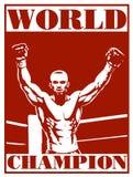 Cartel del boxeo Fotografía de archivo libre de regalías