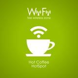 Cartel del café de Internet Fotos de archivo