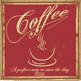 Cartel del café del vintage Fotografía de archivo libre de regalías