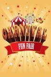 Cartel del carnaval Foto de archivo libre de regalías