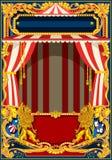 Cartel del carnaval con la tienda de circo stock de ilustración