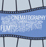 Cartel del cine Fotografía de archivo libre de regalías