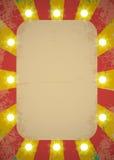 Cartel del circo Fotos de archivo libres de regalías