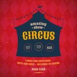 Cartel del circo Fotografía de archivo