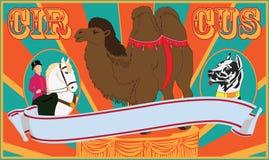 Cartel del circo Fotografía de archivo libre de regalías