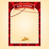 Cartel del circo del vector Imágenes de archivo libres de regalías