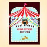 Cartel del circo del vector Fotografía de archivo libre de regalías