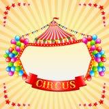 Cartel del circo del vintage Imagen de archivo libre de regalías
