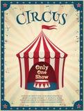 Cartel del circo del vintage ilustración del vector