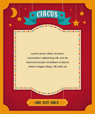 Cartel del circo del vintage, fondo con carnaval Fotografía de archivo