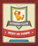 Cartel del club de fitness Imagen de archivo libre de regalías
