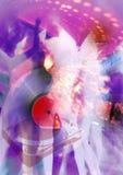 Cartel del club nocturno Imagen de archivo