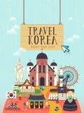 Cartel del concepto del viaje de la Corea del Sur libre illustration