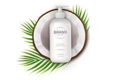 Cartel del concepto para la crema natural orgánica libre illustration
