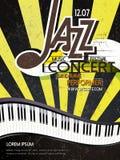 Cartel del concierto del jazz Fotografía de archivo libre de regalías