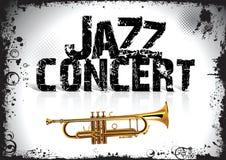 Cartel del concierto del jazz Fotografía de archivo